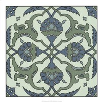 """Mediterranean Tile II by Gerard Paul Deshayes - 18"""" x 18"""""""
