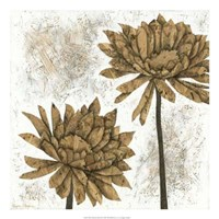 """White Washed Dahlias II by Megan Meagher - 22"""" x 22"""" - $35.49"""