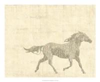 "Vintage Horse I - 22"" x 18"""