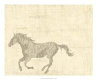 "Vintage Horse II - 22"" x 18"""