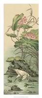 Crane And Lotus Panel II Giclee
