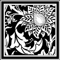 Printed Graphic Floral Motif II - various sizes