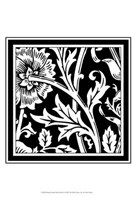 "Printed Graphic Floral Motif IV - 13"" x 19"""