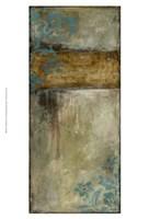 "Teal Patina I by Jennifer Goldberger - 13"" x 19"""