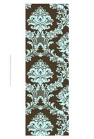 """Small Vivid Damask In Blue I - 13"""" x 19"""""""