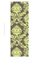 """Small Vivid Damask In Green I - 13"""" x 19"""""""