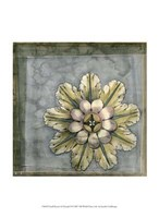 "Small Rosette and Damask II by Jennifer Goldberger - 10"" x 13"" - $10.49"