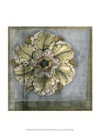 "Small Rosette and Damask IV by Jennifer Goldberger - 10"" x 13"" - $10.49"