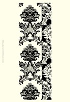 """Damask In Black And Cream I - 13"""" x 19"""""""