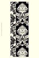 Damask In Black And Cream II Fine Art Print
