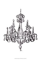 """Graphic Chandelier I by Ethan Harper - 13"""" x 19"""""""