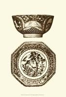Manor Porcelain In Brown II Fine Art Print