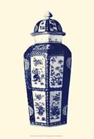 Manor Porcelain In Blue III Fine Art Print