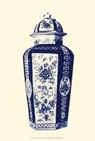 Manor Porcelain In Blue IV Fine Art Print