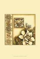 Small Golden Elegance I Framed Print