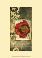 """Mini Poppy Poetry III by Jennifer Goldberger - 10"""" x 13"""""""