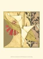 "Mini Nouveau Graphic Botanical I by Jennifer Goldberger - 10"" x 13"""