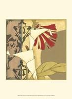"""Mini Nouveau Graphic Botanical II by Jennifer Goldberger - 10"""" x 13"""""""