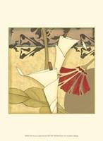 """Mini Nouveau Graphic Botanical III by Jennifer Goldberger - 10"""" x 13"""""""