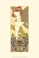 "Mini Nouveau Graphic Botanical V by Jennifer Goldberger - 13"" x 19"""