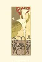 "Mini Nouveau Graphic Botanical VI by Jennifer Goldberger - 13"" x 19"""