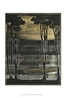 "Small Nouveau Trees I by Jennifer Goldberger - 13"" x 19"""