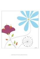 Playful Blooms II Framed Print