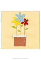 """Primary Petals II by June Erica Vess - 13"""" x 19"""""""