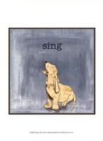 Sing Framed Print
