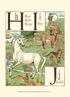 Noah's Alphabet III Framed Print
