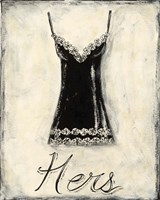 Hers- French Lace Framed Print