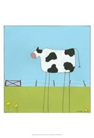 Stick-Leg Cow II Fine Art Print