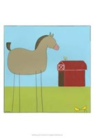 Stick-Leg Horse I Framed Print