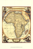 Small Nautical Map Of Africa Fine Art Print