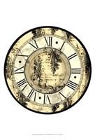 Small Aged Elegance Clock Fine Art Print