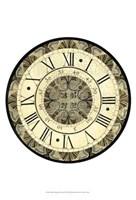 Small Vintage Motif Clock Fine Art Print