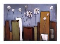 Cityscape Floral I Fine Art Print
