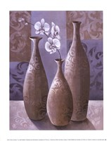 """Silver Orchids II by Keith Mallett - 10"""" x 12"""""""