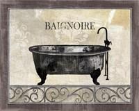 "Bath Silhouette I by John James Audubon - 10"" x 8"""