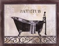 """Bath Silhouette II by John James Audubon - 10"""" x 8"""""""