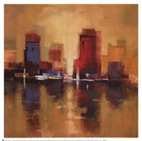 """City Reflections I by Cecilia Henle - 19"""" x 19"""""""