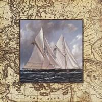 Classic Island Map I Fine Art Print