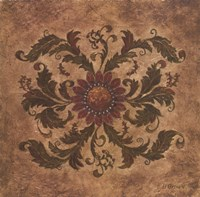 """Golden Scroll II by Betsy Brown - 12"""" x 12"""" - $10.49"""