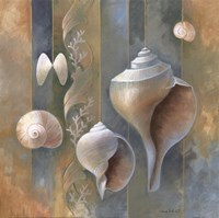 "Ocean Treasures II by Elaine Vollherbst-Lane - 12"" x 12"", FulcrumGallery.com brand"