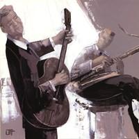 """La Guitare by Bernard Ott - 28"""" x 28"""""""