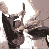 "La Guitare by John James Audubon - 12"" x 12"""