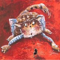 """Jeu Du Chat Et De La Fourmi by John James Audubon - 12"""" x 12"""""""