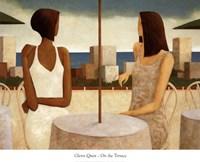 "On The Terrace by Glenn Quist - 32"" x 26"""