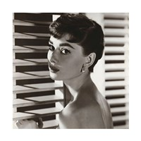 Audrey Hepburn – Blinds Framed Print