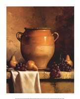 Confit Jar with Pears and Grapes Fine Art Print